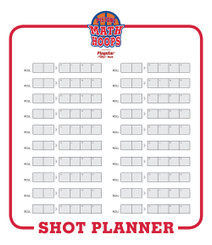 Shot Planner_Red 44x38 dry erase aluminum trilayer