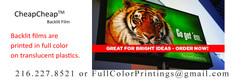 Full Color Backlit Film, 6 Pieces
