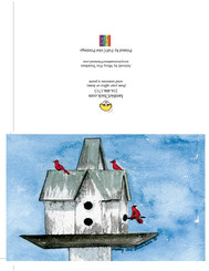 bird house custom greeting card