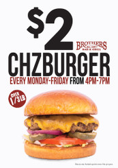 24x34 Brother's Minneapolis Chzburger Coroplast Sign