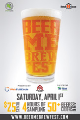 Beer Me Brew Fest paper poster 32x48 Charlotte NC