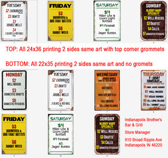 Full Color Coroplast Signs for Window (with grommets) and Sandwich Boards