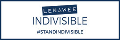 Lenawee Indivisible Banner on 13oz scrim vinyl