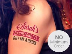 Temporary Tattoo with No Minimum Order