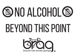 No alcohol beyond this point coroplast sign