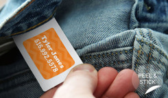 Stick on Clothing Tag Labels