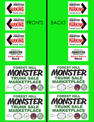 Monster Garage Sale Coroplast Signs