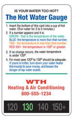 Hot Water Gauge Temperature Indicator, 20Pt, one color imprint
