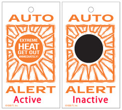 ThermoChromic car interior temperature alert card with one color imprint