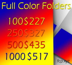 Full Color Folder with High Gloss Finish Pricing