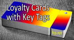 Custom loyalty cards with key tag - prints two sides