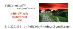 Endurace/Ultra Waterproof Tear Resistant Posters Printed One Side in Full Color