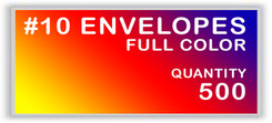10 ENVELOPES FULL COLOR QUANTITY 500