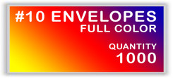 10 ENVELOPES FULL COLOR QUANTITY 1000