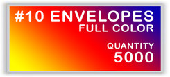 10 ENVELOPES FULL COLOR QUANTITY 5000