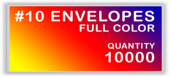 10 ENVELOPES FULL COLOR QUANTITY 10000