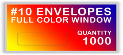 10 ENVELOPES FULL COLOR WINDOW QUANTITY 1000