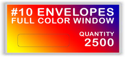 10 ENVELOPES FULL COLOR WINDOW QUANTITY 2500
