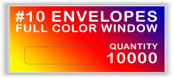 10 ENVELOPES FULL COLOR WINDOW QUANTITY 10000