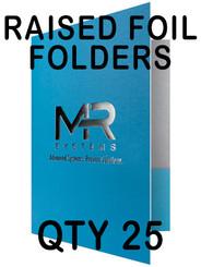 Raised Foil Folders on 14pt c2s Cardstock, qty 25