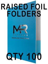 Raised Foil Folders on 14pt c2s Cardstock, qty 100