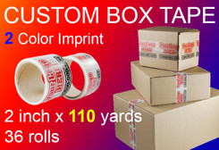 custom box tape 2 Color Imprint 2 inch x 110 yards 36 rolls