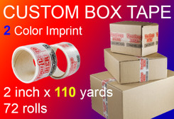custom box tape 2 Color Imprint 2 inch x 110 yards 72 rolls