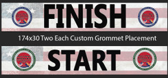 """Two Each of Two 174x30"""" Banners and One Each of Two 96x36"""" Banners on 13oz Vinyl, Regular Ship"""