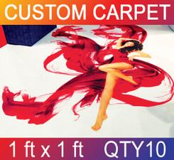 Skid Resistant Full Color Carpet 1 ft x 1 ft QTY10