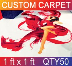 Skid Resistant Full Color Carpet 1 ft x 1 ft QTY50