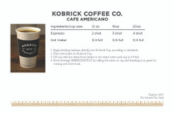 Kobrick Coffee Recipe Book with Lamination with Edge Seal and Coil Bind, 8 Books