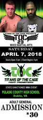 1000 5.5x2 titans of the cage tickets, one side, 16pt with super shiny finish, toc30