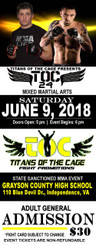 1000 5.5x2 titans of the cage tickets 16pt with super shiny finish - 04/22/2018