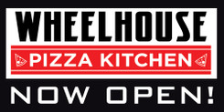 48x96 Double Sided Wheelhouse Pizza Kitchen, Coming Soon Now Hiring 26oz Banner with Wind Slits, Ship