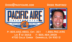 pacaire diego martinez business card front