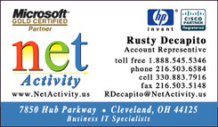 net activity rusty decapito business card