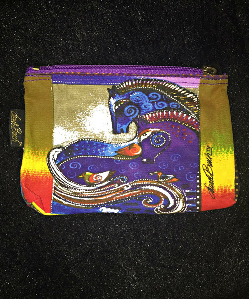 Laurel Birch Purple Zip Cosmetic Bag