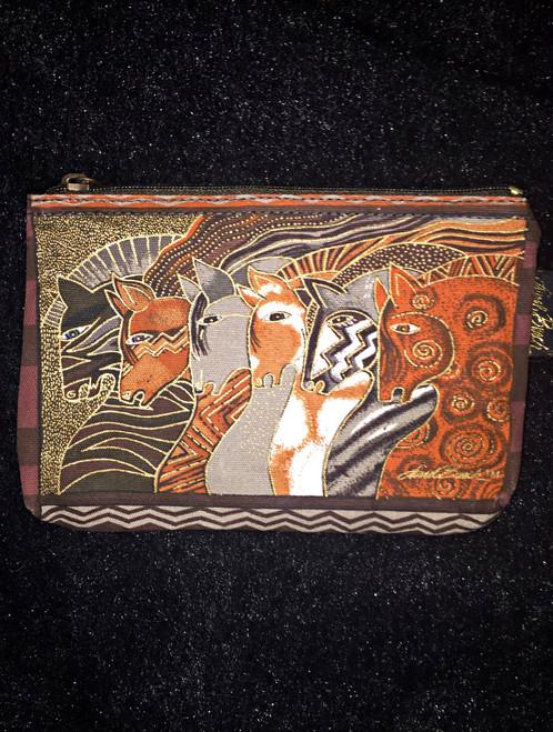 Laurel Birch Brown Zip Cosmetic Bag