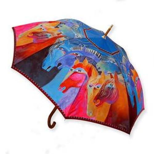 Laurel Burch Horsey Umbrella L