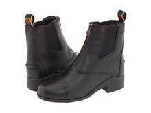 CHILD'S ARIAT DEVON III BLACK ZIP FRONT BOOTS