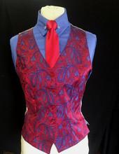 Ladies' Red/Blue Paisley Investment Vest