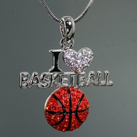 Basketball-I Love Necklace