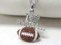 Football-I Love Necklace