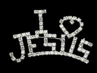 I Love Jesus Brooch