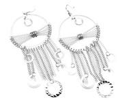 Hammered Chain Hoop Earrings