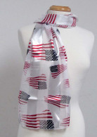 American Flag Satin Stripe Scarf