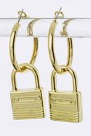 Mini Lock You In Dangling Earrings
