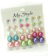 Pearl Studs Earrings (Set of 15)