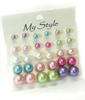 Pearl Studs Earrings (Set of 15)