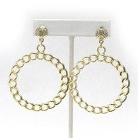 Chain Hoop Drop Earrings